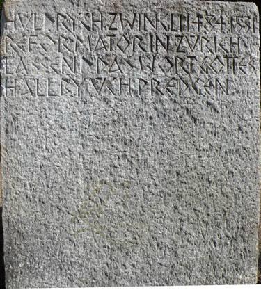 Vor der Restaurierung war die Inschrift kaum lesbar