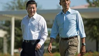 Obama und Xi am Samstag auf dem Weg zur Bank (Archiv)