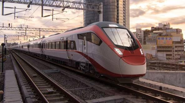 Visualisierung des Stadler-Intercityzugs für Taiwan in der Hauptstadt Taipeh.