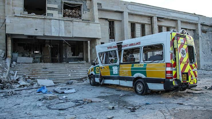 Ein zerstörtes Spital in der syrischen Region Idlib nach vier Luftangriffen im Februar.
