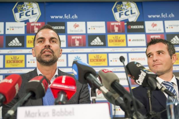 Als neuer Trainer wird Markus Babbel vorgestellt. Er soll Luzern aus der Krise führen.