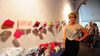 Für das Freiämter Nähtalent Stefanie Gehrig hat sich mit der Ausstellung ein Traum erfüllt.  ca