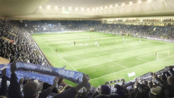 So soll das neue Stadion Zürich aussehen. Über die Kosten von 225 Millionen Franken stritt gestern das Stadtparlament. visualisierung zvg