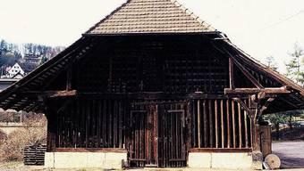 Der Schuppen mit Baujahr 1711 steht heute auf dem Ballenberg.