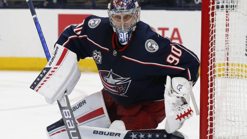 Einer der besten NHL-Goalies der letzten zwei Jahre: der Lette Elvis Merzlikins