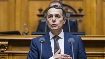 Ignazio Cassis hat seinen ersten Auftritt im Nationalrat als Bundesrat absolviert. (Archiv)