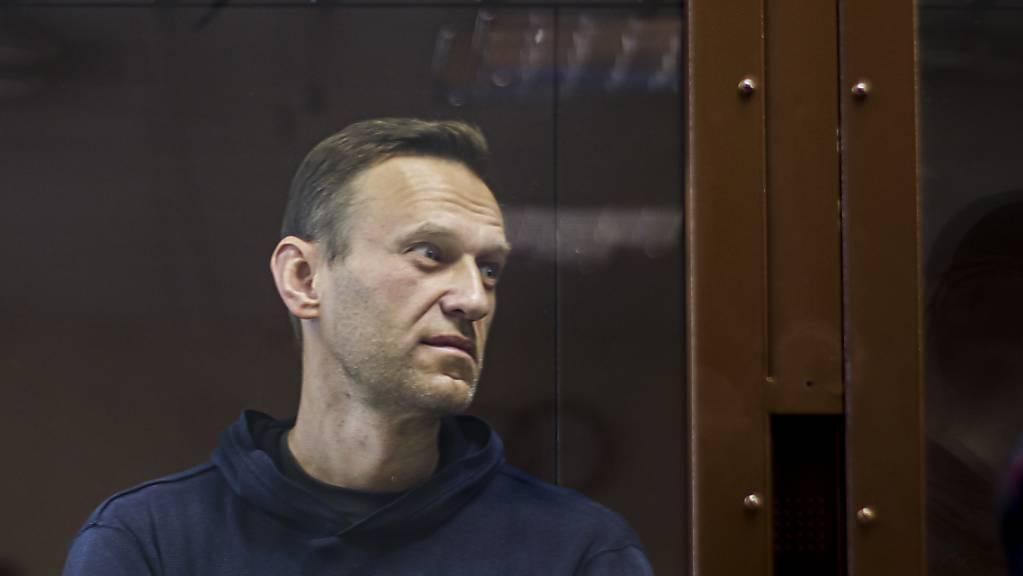 Dieses vom Bezirksgericht Babuskinsky zur Verfügung gestellte Bild zeigt den russischen Oppositionsführer Alexej Nawalny. Foto: Uncredited/Babuskinsky District Court/AP/dpa - ACHTUNG: Nur zur redaktionellen Verwendung und nur mit vollständiger Nennung des vorstehenden Credits
