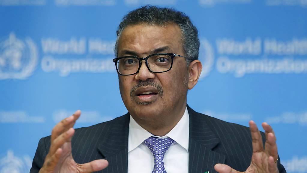 WHO-Generaldirektor Tedros Adhanom Ghebreyesus ruft zu mehr Tests auf das Coronavirus auf.