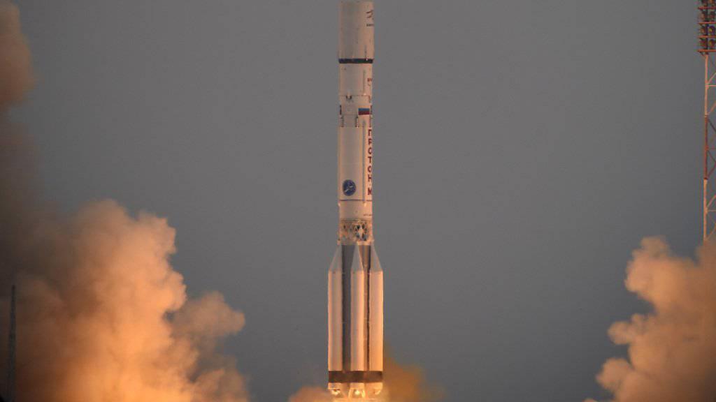 Um 10.31 Uhr Schweizer Zeit hob die Proton-M-Rakete mit der ExoMars-Sonde in Baikonur ab.