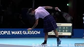 Roger Federers schottische Showeinlage.