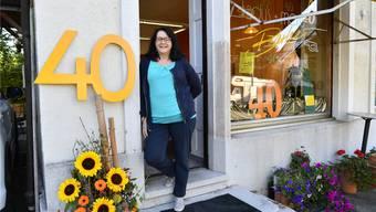 Liselotte Gunziger feierte das 40-Jahr-Jubiläum ihres Coiffeurgeschäftes.