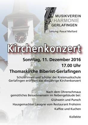 Flyer Kirchenkonzert