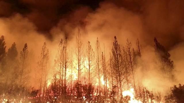 In der Nähe des Yosemite Nationalparks brennen die Wälder