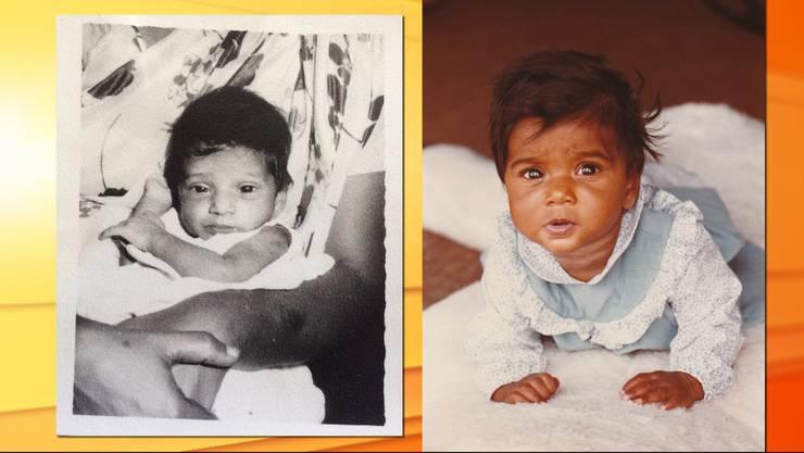 Die kleine Sarah Ramani als Baby.