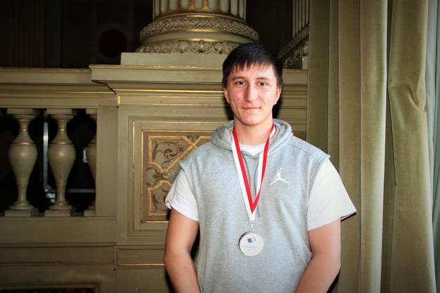 Gian Reber aus der Stadt Solothurn wurde 6ter und wurde mit Silber ausgezeichnet.