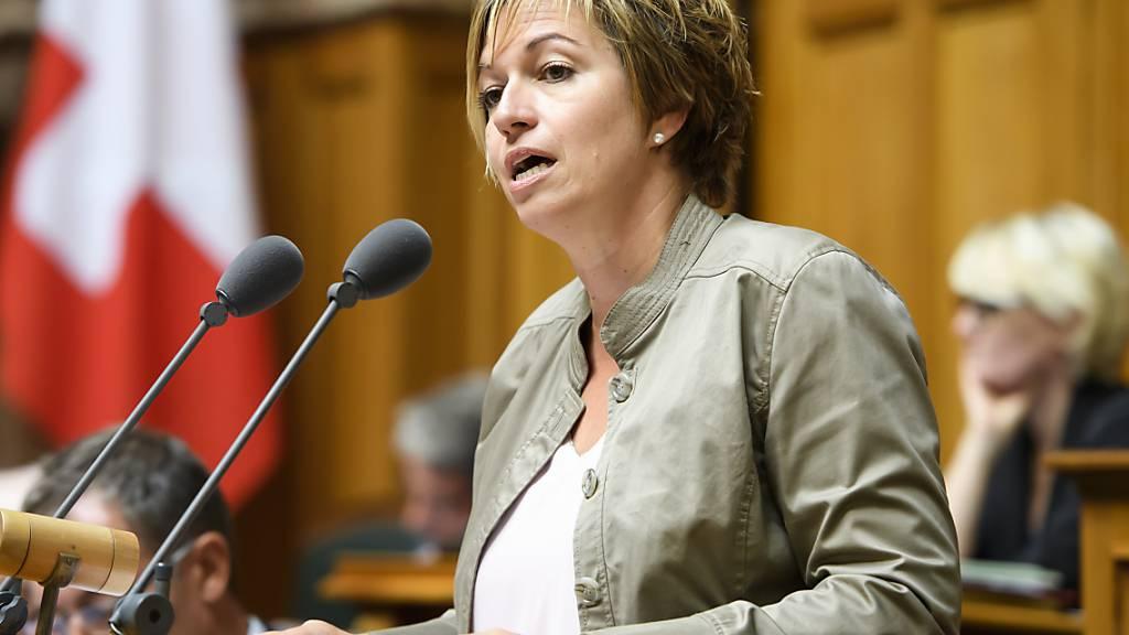Die SP-Nationalrätin Valérie Piller Carrard will in den Freiburger Staatsrat. (Archivbild)