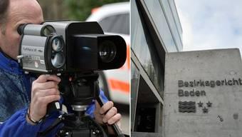 Der 29-jährige Raser musste sich vor dem Bezirksgericht Baden verantworten.