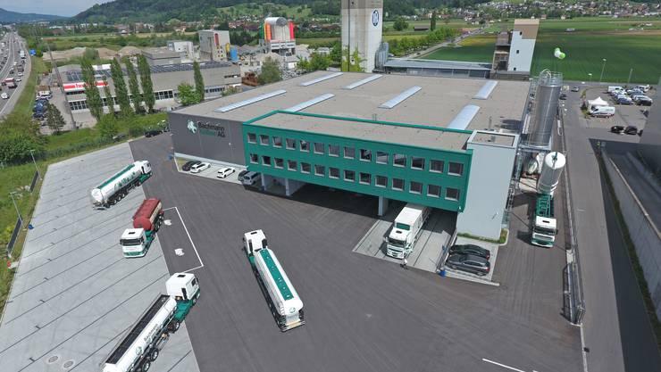 Der neue Firmensitz der Bachmann AG im Hardfeld in Kölliken gehört zu den modernsten Schüttgutlogistikcentern der Schweiz.