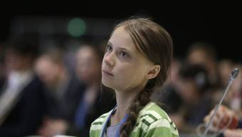Greta Thunberg vor der UNO in New York.
