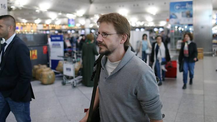 Der deutsche Menschenrechtler Peter Frank STeudtner bei seiner Ausreise aus der Türkei im Oktober 2017. (Archivbild)