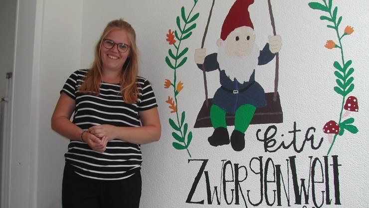 Stefanie Herzog eröffnet in Recherswil die Kindertagesstätte Zwergenwelt.