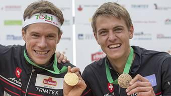 Daniel Hubmann (links) und Matthias Kyburz schauen auf eine gelungene Woche zurück.