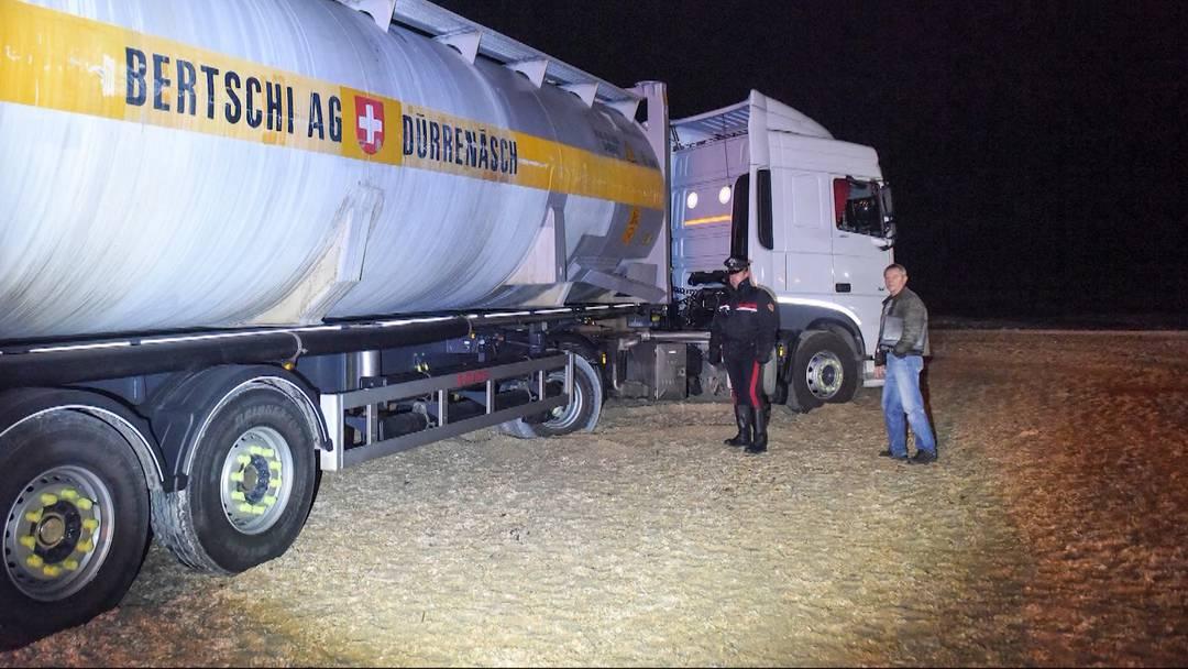 Aargauer Lastwagen strandet an italienischer Küste