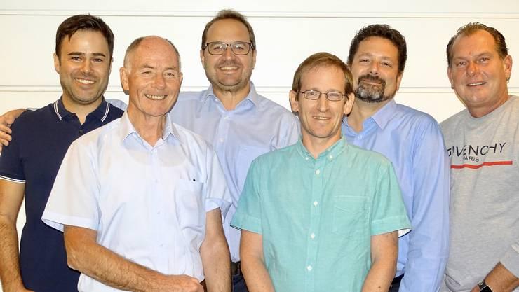 Pro-Komitee: Michael Frei, Hans Berger, Rodrigo Salgado, Lukas Meier, Boris Annaheim und Claudio Gygax (v. l.). Es fehlt: Reto Parolini.