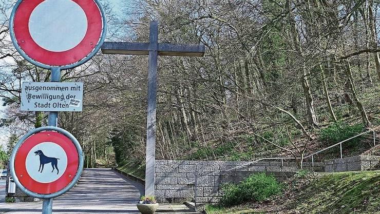 Nicht so einfach zu erreichen: Friedhof Meisenhard.