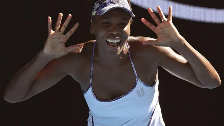Ein verdientes Siegertänzchen mit 36 Jahren: Venus Williams steht am Australian Open im Final