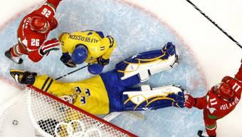 Schweden feierte gegen die Weissrussen einen Favoritensieg