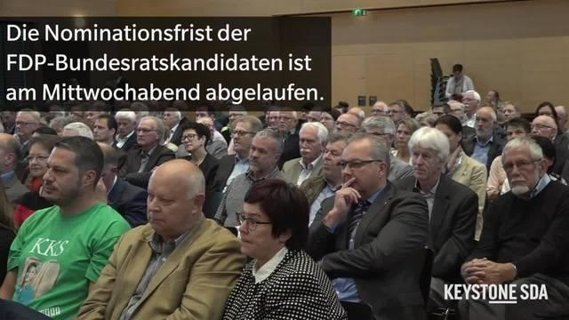 Drei Kandidaturen für die Nachfolge von Schneider-Ammann