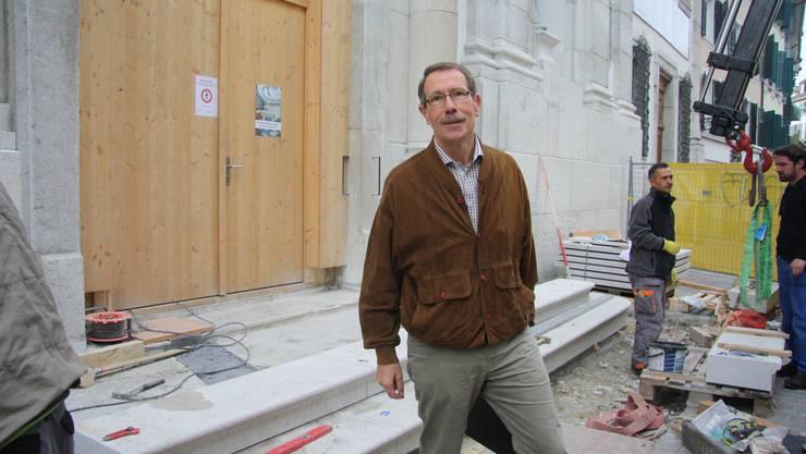 Die Restaurationsarbeiten halten Kirchgemeindepräsident Karl Heeb auf Trab