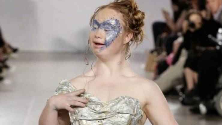 Model Madeline Stuart (18) am Sonntag auf der Fashion Week New York.