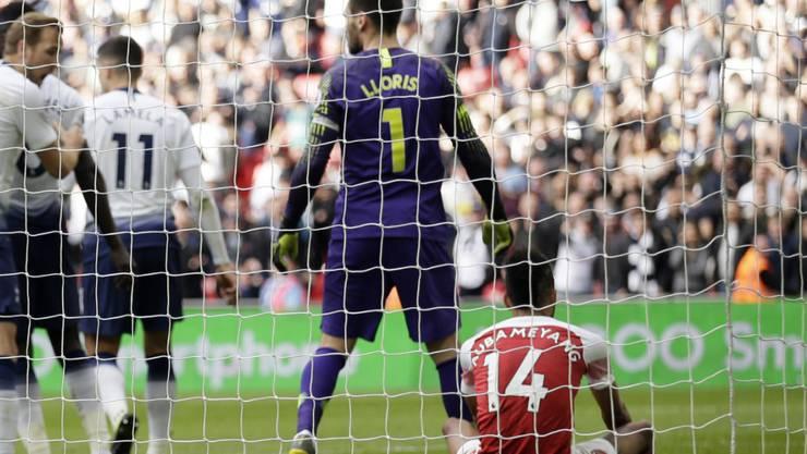 Held und Versager: Hugo Lloris wehrte den Penalty von Arsenals Aubameyang ab