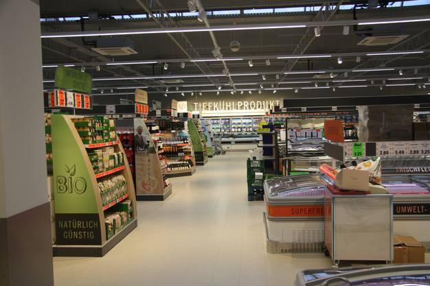 Einblicke in die neue Lidl-Filiale Solothurn in der Schanzmühle.