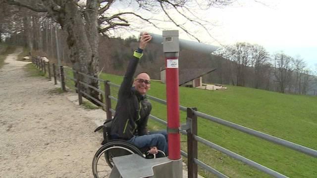 Berge im Rollstuhl-Test