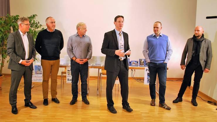 v.l.n.r. Roland Fürst, Hans Peter Schläfli, Peter Brotschi, Miachel Ochsenbein, Marius Haffner, André Scheidegger. Es fehlt Ueli Flück