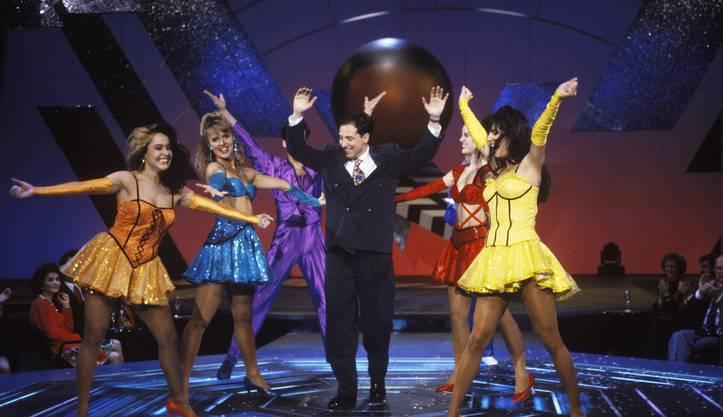 Bernard Thurnheer an seiner ersten «Benissimo»-Show am 21. März 1992.