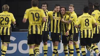 Borussia Dortmund setzte sich in Amsterdam mit 4:1 durch.