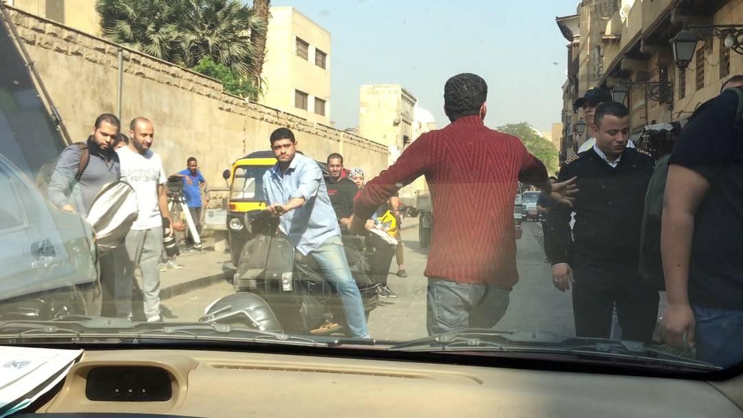 Der ganz normale Wahnsinn in Kairos Strassen.