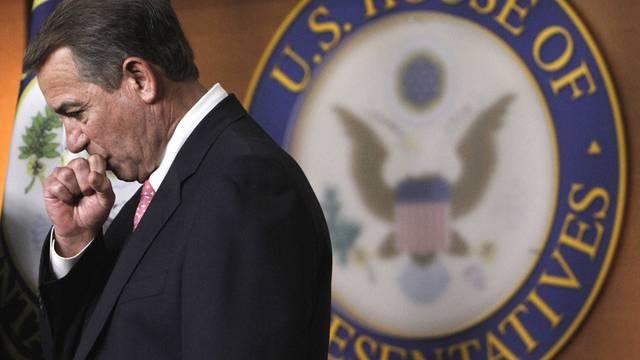 Der republikanische Präsident des Repräsentantenhauses, John Boehner, vor der Abstimmung über den Kompromiss in der Schuldenkrise