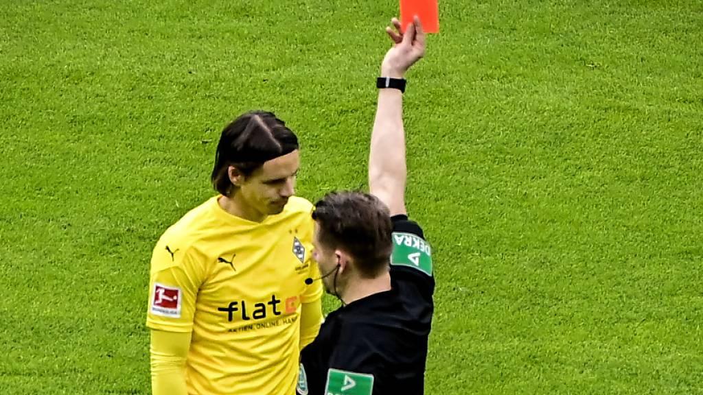 Zwei Spiele gesperrt nach Platzverweis: Der Schweizer Torhüter Yann Sommer fehlt bei Borussia Mönchengladbach
