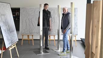 Philip Walker und Jean-Claude Boillat im Showroom bei der Garage Vogelsang an der Bielstrasse.