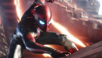 """Das Bild zeigt Tom Holland als Spider-Man in """"Avengers: Infinity War"""". Der Film hat am Wochenende vom 10. bis 13. Mai 2018 erneut am meisten Filmfans in die Schweizer Kinos gelockt. (Archiv)"""