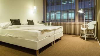 Ein Hotelzimmer im Hotel Trafo.