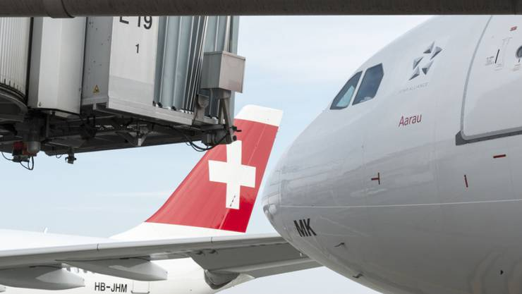 Nicht weiter im Aufwind: die Swiss muss zumindest vorübergehend einen Passagierrückgang hinnehmen. (Archiv)