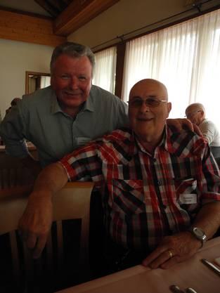 Szabolcs Hauser (r.) flüchtete 1956 als Schweizer Bürger aus Budapest und wurde Nachbar von René Unternährer (l.).