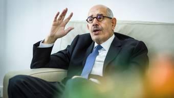 """Mohammed ElBaradei im Interview in Wien mit der """"Schweiz am Sonntag"""""""