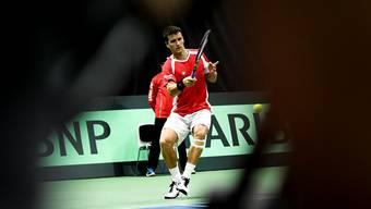 Im Davis-Cup spielte sich Marco Chiudinelli vor fünf Wochen mit zwei Siegen beim Abstiegsduell gegen Weissrussland noch einmal ins Rampenlicht. Urs Lindt/Freshfocus